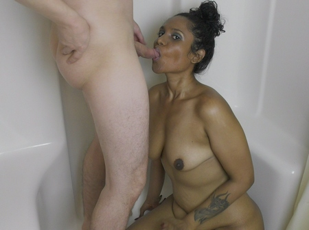 Indian Wife Lily Gets Creampie In Shower